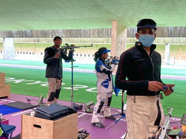 Indian shooting contingent begins training in Tokyo (Photo/ NRAI Twitter)