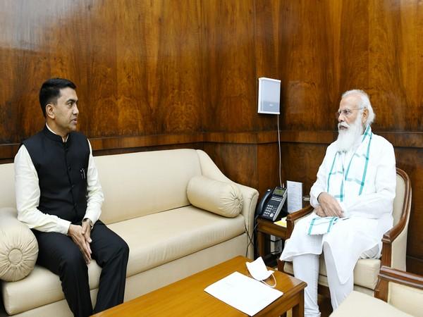 Goa Chief Minister Pramod Sawant met Prime Minister Narendra Modi in New Delhi on Monday.