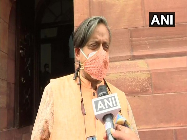 Congress MP Shashi Tharoor speaking to ANI