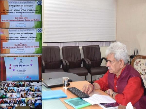 Jammu and Kashmir Lieutenant Governor Manoj Sinha virtually inaugurated 44 digital village centres, in Srinagar on Tuesday.
