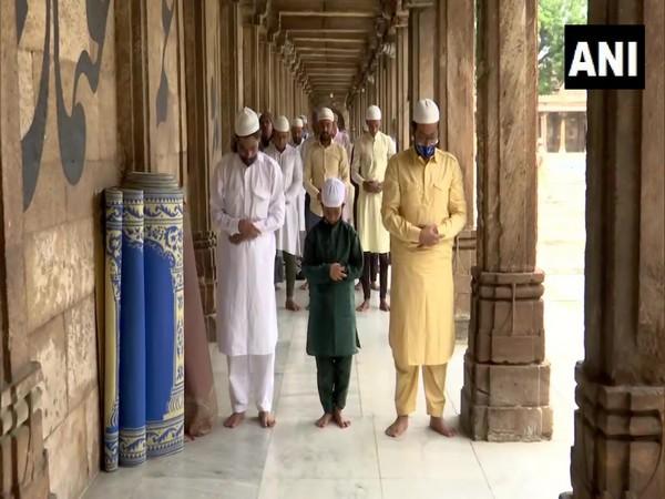Visual from Jama Masjid in Ahmedabad on Wednesday. (Photo/ANI)