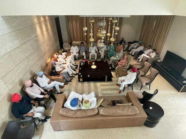 MLAs at Punjab Congress President Navjot Singh Sidhu's residence in Amritsar