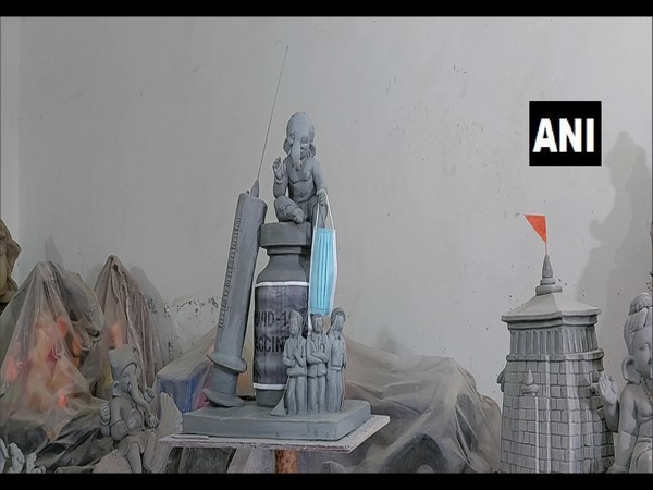 A visual of the idol made by Dakshesh Jangid (Photo/ANI)