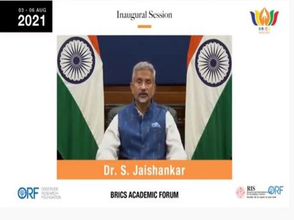 External Affairs Minister S Jaishankar during inaugural session of BRICS Academic Forum (Photo/ANI)