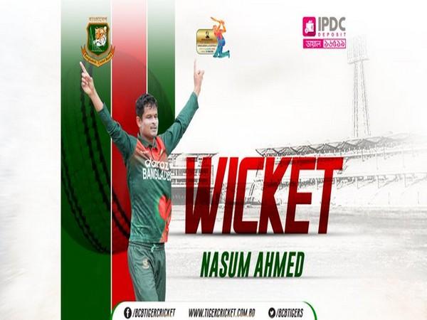Nasum Ahmed (Photo/ Bangladesh Cricket Board Twitter)