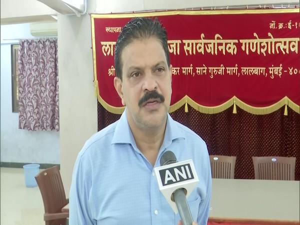 Lalbaugcha Raja Ganeshotsav Mandal, Secretary, Sudhir Salvi (Photo/ANI)
