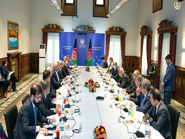 Afghan Foreign Minister Haneef Atmar met with ambassadors and representatives of neighboring countries