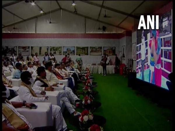 Assam MLAs watch Lovlina in action. (Photos/ANI)