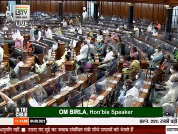 Visuals from Lok Sabha