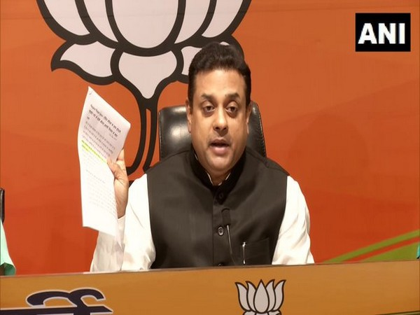 BJP spokesperson Sambit Patra addressing a press conference in New Delhi on Wednesday. [Photo/ANI]