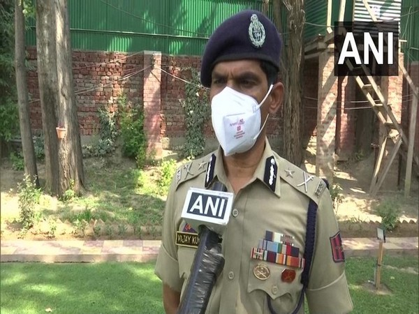 Kashmir Zone Inspector General Vijay Kumar (Photo/ANI)