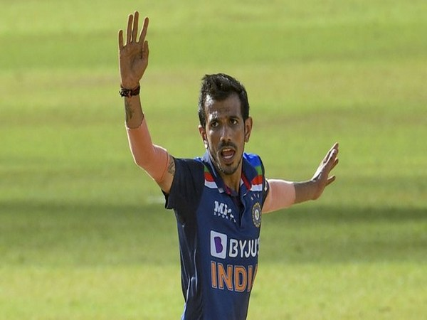 Spinner Yuzvendra Chahal in action in first T20I (Photo/ ICC Twitter)