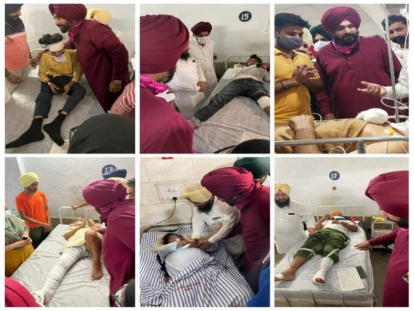 Navjot Singh Siddhu visits the families of deceased