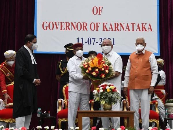 Karnataka Governor Thawar Chand Gehlot and BS Yediyurappa. [File Photo/ANI]