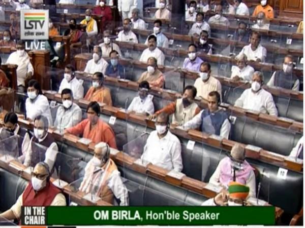 Visuals from Lok Sabha (Photo/ANI)
