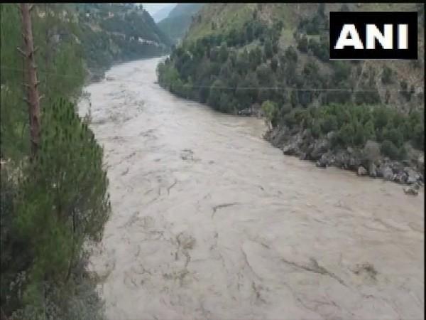 Visuals of Chenab River (Photo/ANI)