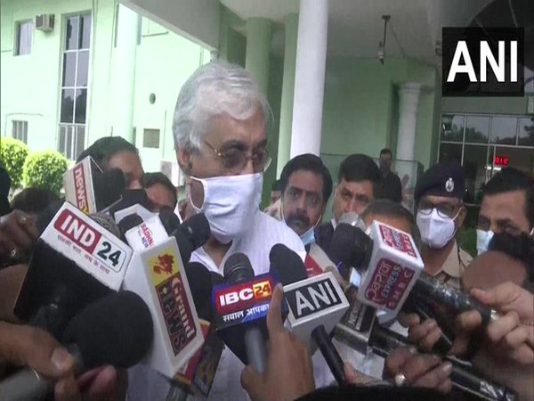 Chhattisgarh Health Minister TS Singh Deo speaking to reporters in Raipur on Wednesday. [Photo/ANI]
