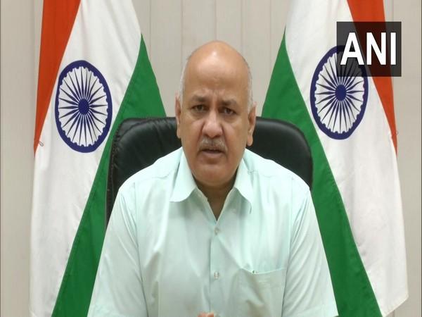 Delhi Deputy CM Manish Sisodia addressing a press conference (Photo/ANI)