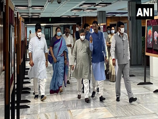 Parliamentary panel heading for the meeting (Photo/ANI)