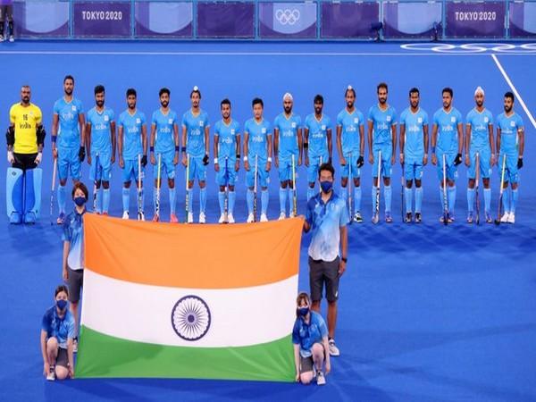 Indian men's hockey team. (Photo/ Kiren Rijiju twitter)