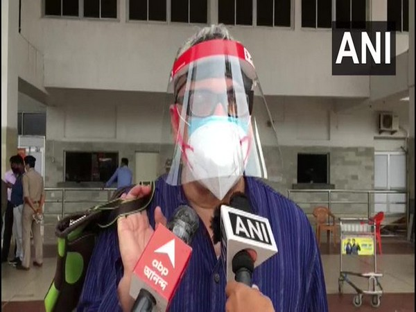 TMC MP Derek O' Brien speaking to reporters in Agartala on Thursday. [Photo/ANI]