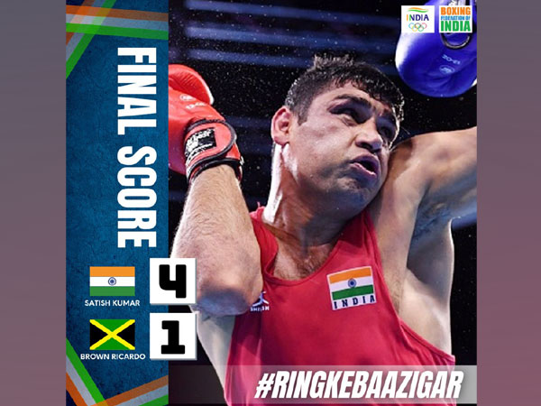 Satish Kumar (Photo: Boxing Federation of India's Twitter)