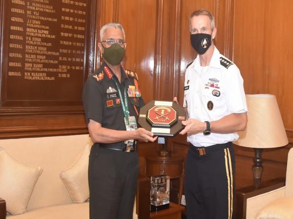 General Richard D. Clarke met Army Chief General MM Naravane (Photo Credit: Twitter)