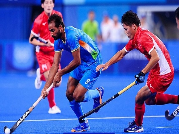 India hockey team in action against Japan (Image: Hockey India)