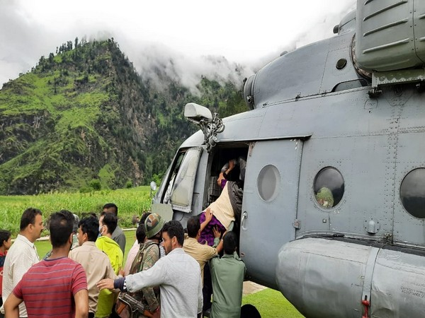 Ongoing rescue operations in Jammu and Kashmir's Kisthwar (Photos/ANI)