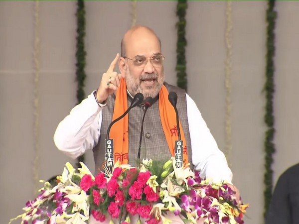 Union Home Minister Amit Shah in Mirzapur (Photo/ANI)