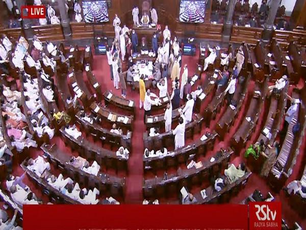 Visual from Rajya Sabha (Photo/ANI)