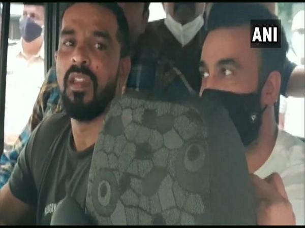Raj Kundra and his associate Ryan Thorpe (Photo/ANI)