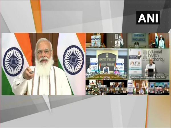 PM Modi launches digital payment solution e-RUPI (Photo/ANI)