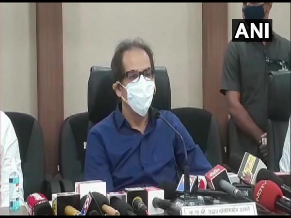 Maharashtra CM Uddhav Thackrey addressing a press conference on Monday.
