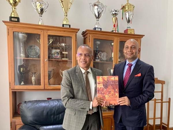Indian Ambassador Abhay Kumar met Madagascar Defence Minister General Leon Jean Richard Rakotonirina