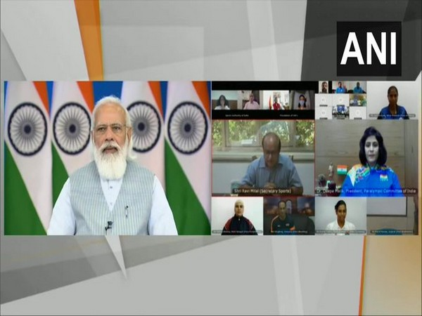 PM Modi interacts with para-athletes ahead of Tokyo Paralympic Games.