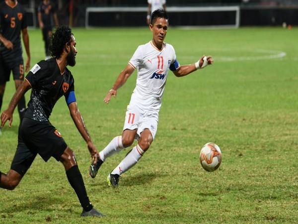 Sunil Chhetri in action (Photo/ Bengaluru FC Twitter)