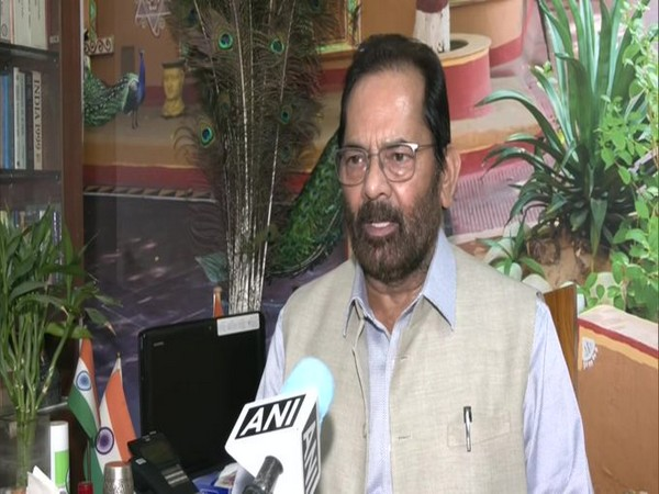 Union Minister Mukhtar Abbas Naqvi speaking to ANI
