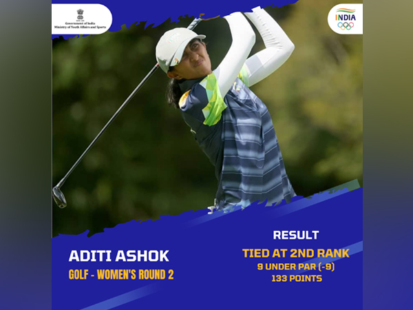 Aditi Ashok. (Photo/ SAI Media twitter)