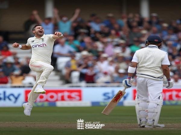 England fast bowler James Anderson (Image: England Cricket)