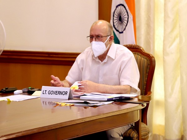 Lieutenant Governor of Delhi Anil Baijal in a meeting on Friday. (Photo/Twitter)