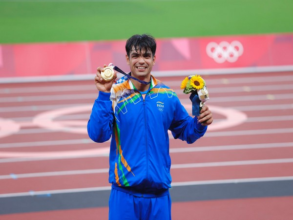 Gold medallist Neeraj Chopra (Photo/ Neeraj Chopra Twitter)