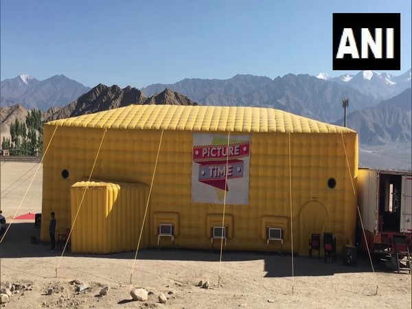 First mobile theatre in Leh, Ladakh. (Photo/ANI)