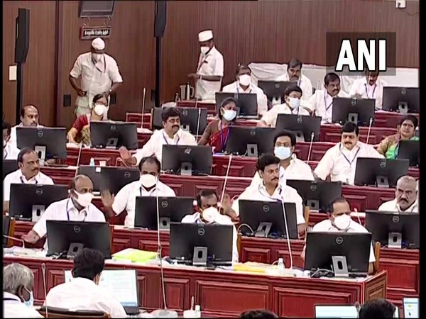The Tamil Nadu Assembly on Saturday adopted a resolution urging Centre to withdraw the three new Agri laws. [Photo/ANI]
