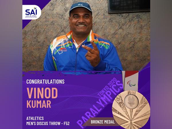 Vinod Kumar wins bronze (Photo/ Anurag Thakur Twitter)