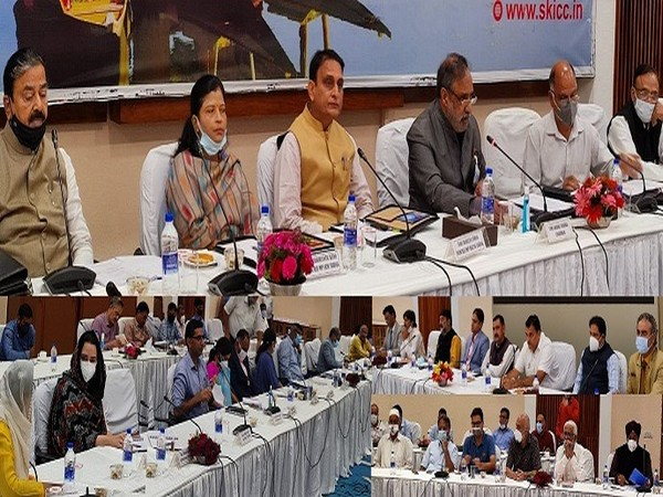 Parliamentary Standing Committee holding sessions in Jammu and Kashmir. (Photo/ANI)