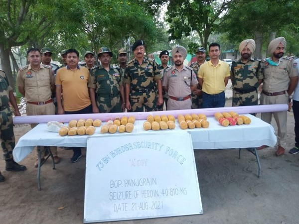 Police has seized around 40.810 kilograms of heroin and 190 grams of opium