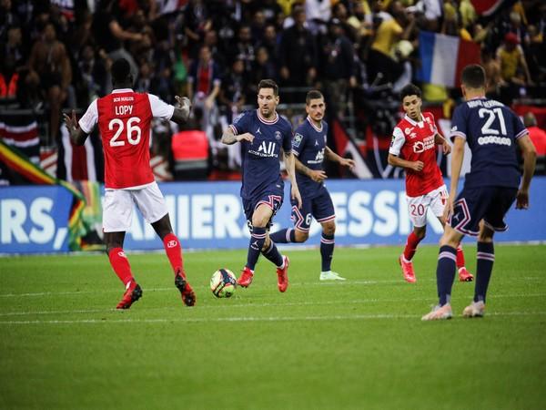 PSG's Lionel Messi in action against Stade de Reims (Photo: Twitter/Paris Saint-Germain)
