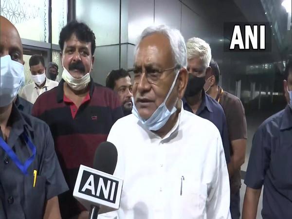 Bihar Chief Minister Nitish Kumar reached New Delhi on Saturday. [Photo/ANI]