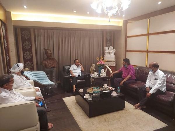 Union Minister Ramdas Athawale, Union Minister Narayan Rane (Photo/ANI)